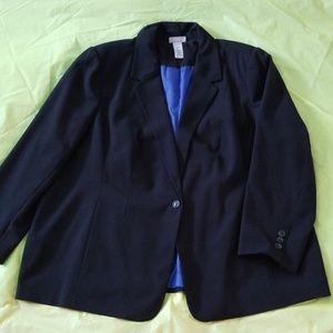 CATHERINE'S black single button blazer